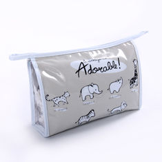 China Customized Printed Travel Cosmetic Bags for Women  , PVC Makeup Bags With Metal Zipper supplier
