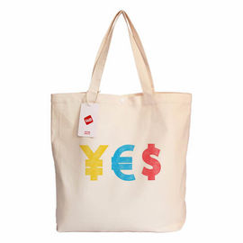 China Reusable Durable White Canvas Screen Printed Tote Bags Customized supplier