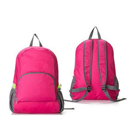 China Softback Zipper Pocket Womens Foldable Rucksack Backpack For School supplier
