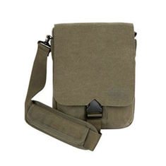 China OEM Army Green Canvas One Side Bags With Multi Separate Pocket supplier