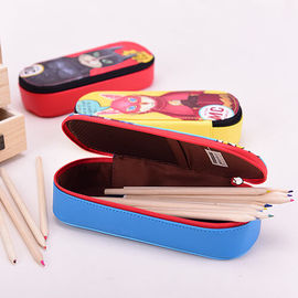 China Lining 210 D Student Pencil Pouches Kids , Double Sided Pencil Case / Pencil Box supplier