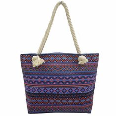 China Bohemian Wind Custom Shoulder Bags , Cotton Handles Tote Bags supplier