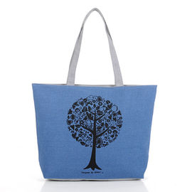 China Large Capacity Custom Canvas Bags / Cotton Canvas Tote Bags supplier