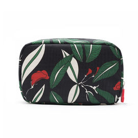 China Personalized Custom Cosmetic Bags ,  Printed Floral Waterproof Travel Toiletry Bag For Women supplier