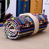 China Roll - Up Canvas Student Pencil Pouches , Pencil Roll Case Cotton Rope Closure factory