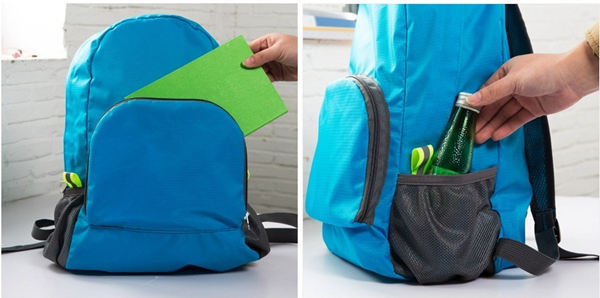 Softback Zipper Pocket Womens Foldable Rucksack Backpack For School