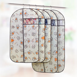 Custom Fabric Zippered Hanging Garment Bags Visible Window Self - Adhesive Seal