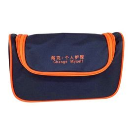 Fold Out Cheap Custom Cosmetic Bags , Dark Blue Mens Travel Toiletry Bags