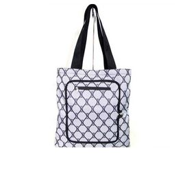 Personalized Custom Grocery Tote Bags with Zipper Closure Outside Pocket