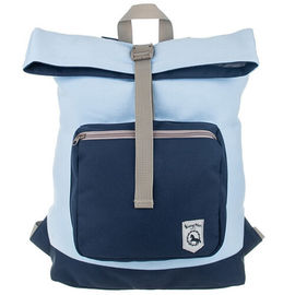 Softback Heavy Duty Backpacks Light Blue Eco Friend Cotton With Front Pocket
