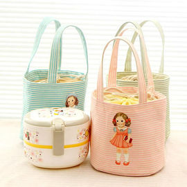 Cartoon Character Kids Insulated Lunch Bag 190T With Aluminum / Pearl Form Inner
