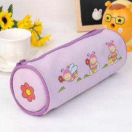 Round Shape Color Monogrammed Pencil Pouch Polyester With Heat Transfer Printing