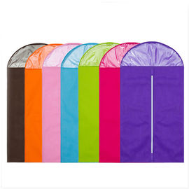 Colorful Cloth Hanging Garment Bags , Foldable Hanging Wardrobe Bag For Overcoat