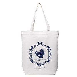 Open Closure Type Custom Canvas bags , Womens Printed Fabric Tote Bags